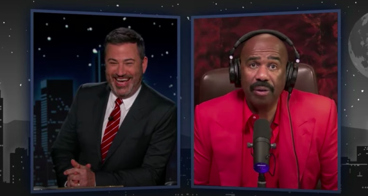 Steve Harvey and Jimmy Kimmel