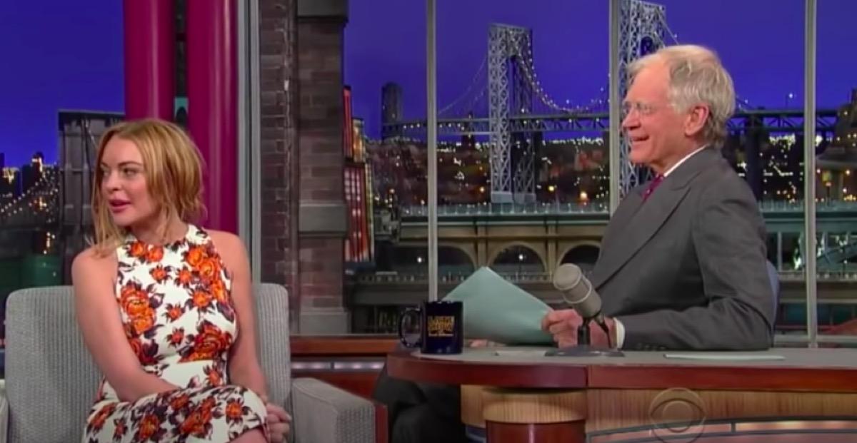 Lindsay Lohan interview David Letterman