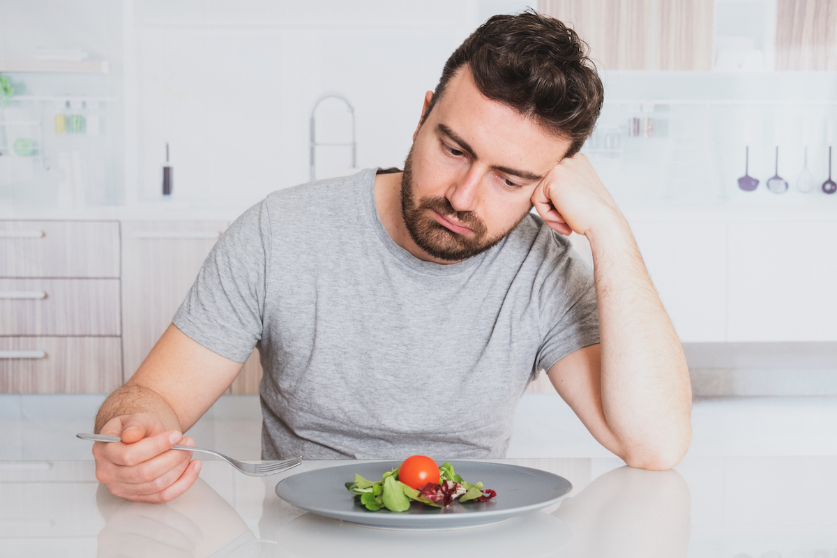 Man has no appetite and/or taste buds