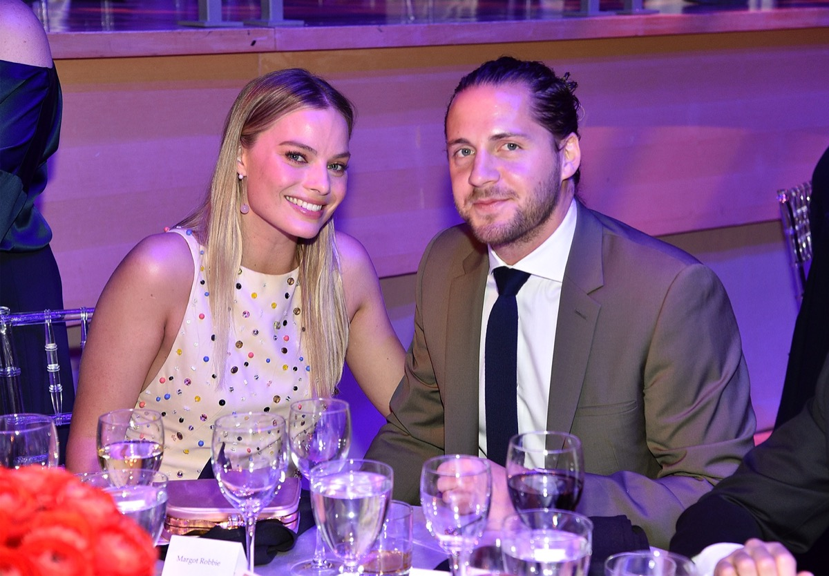 Margot Robbie and Tom Ackerly at the Time Gala in 2017