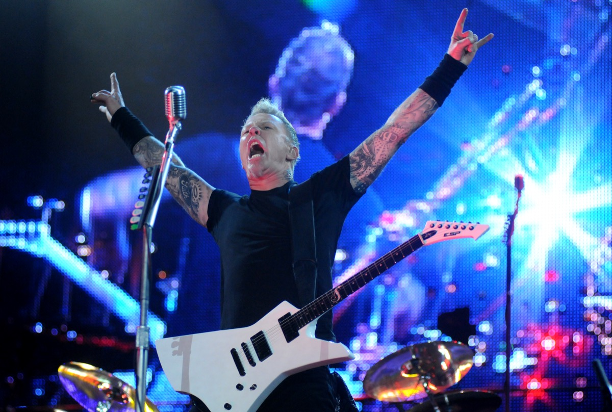 James Hetfield and Metallica performs at the Rock in Rio Show