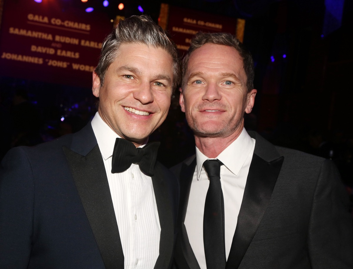 Daivd Burtka and Neil Patrick Harris at the Roundabout Theater Gala in 2020