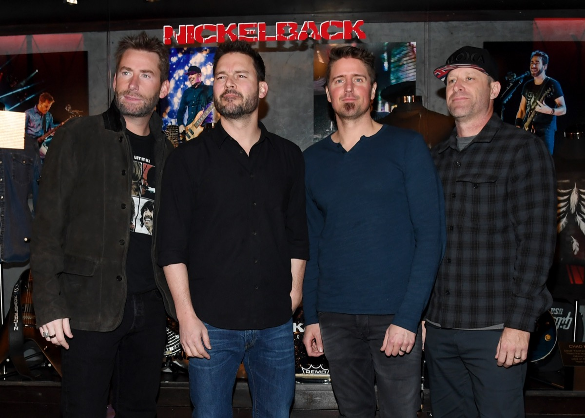 Band members of Nickelback at the Hard Rock Hotel in Las Vegas in 2018