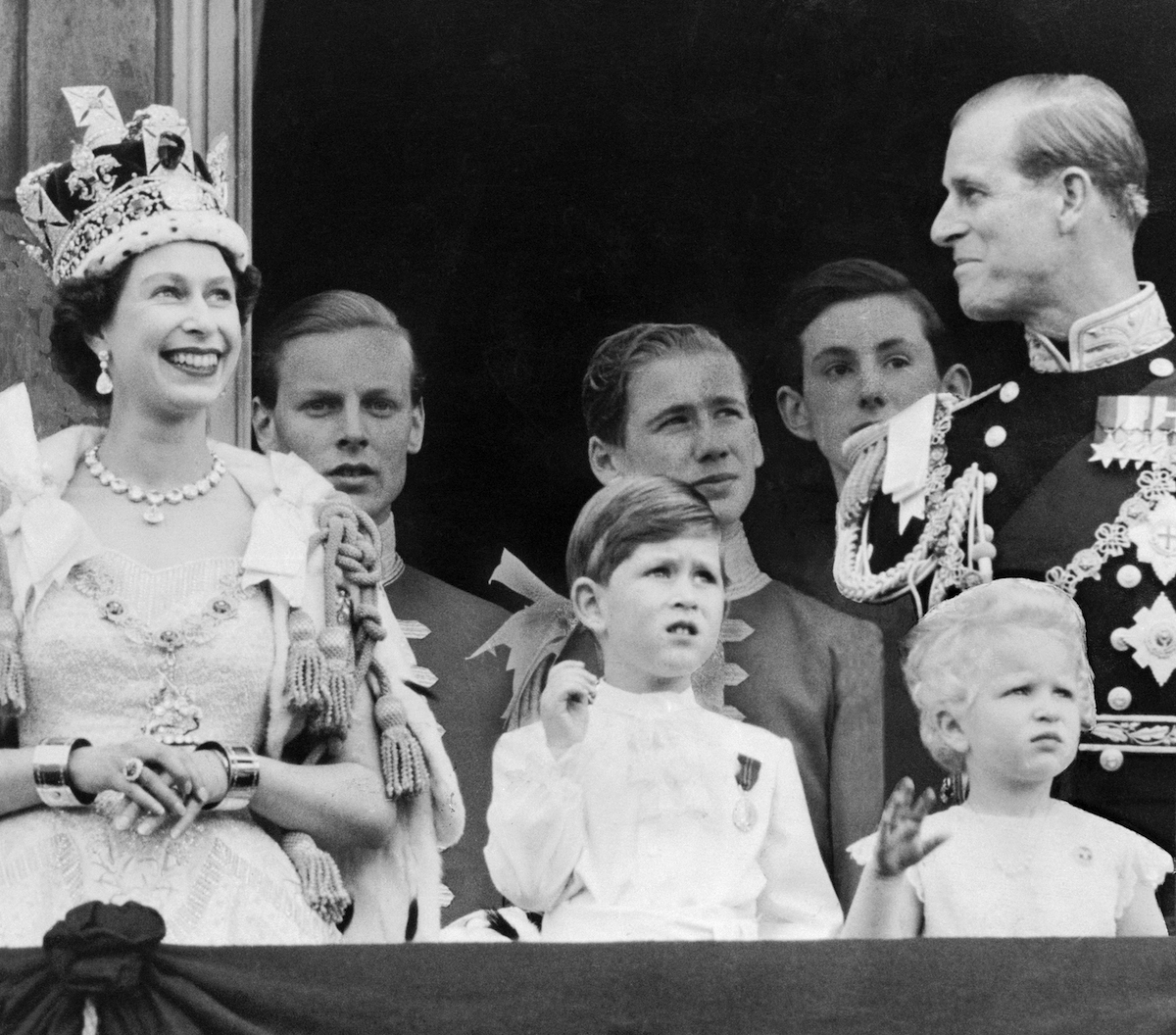 Royal Family on Balcony at Buckingham Palace, London, pictured after Coronation, 2nd June 1953