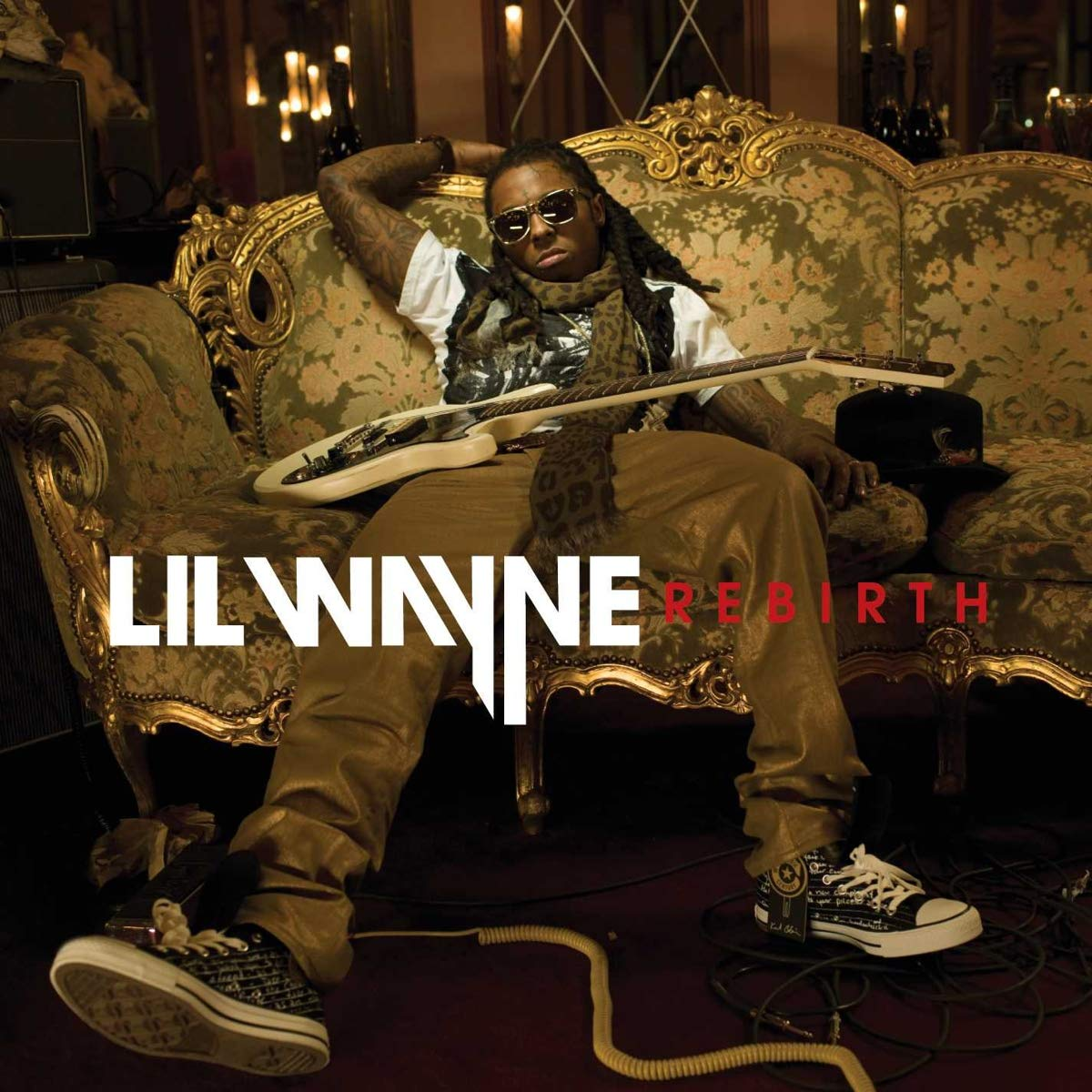 """The album cover of """"Rebirth"""" by Lil Wayner"""