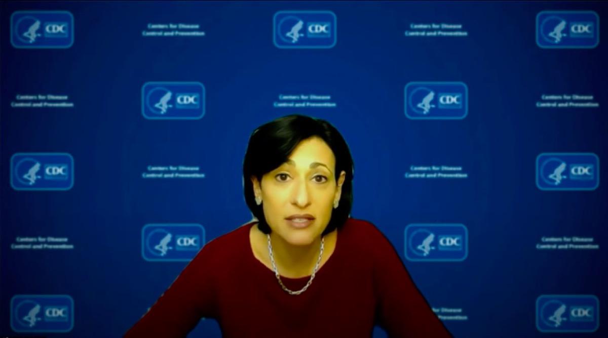 rochelle Walensky talking about coronavirus cases falling