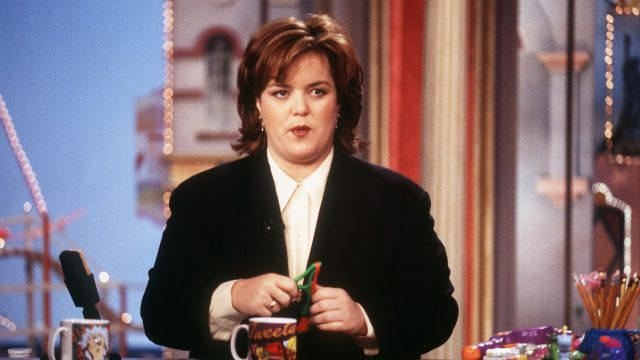 Rosie O'Donnell on her talk show in 1996