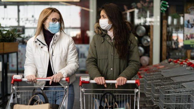 Women in a grocery store