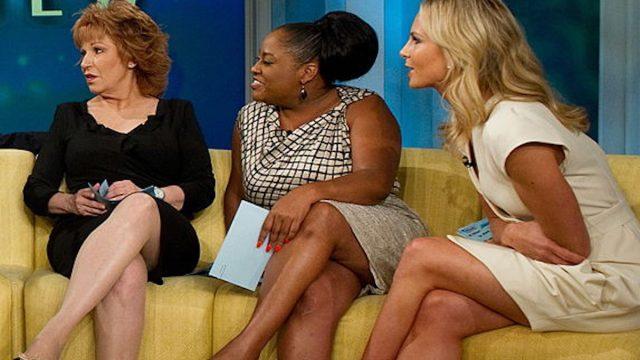 "ABC daytime television talk show ""The View"" hosts Joy Behar, Sherri Shepherd and Elisabeth Hasselbeck"