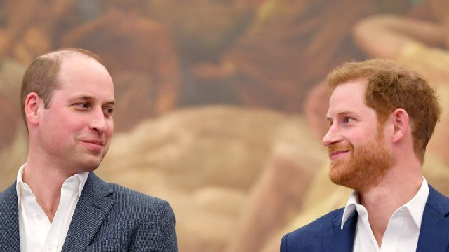 Prince William, Duke of Cambridge and Prince Harry attend the opening of the Greenhouse Sports Centre on April 26, 2018 in London, United Kingdom