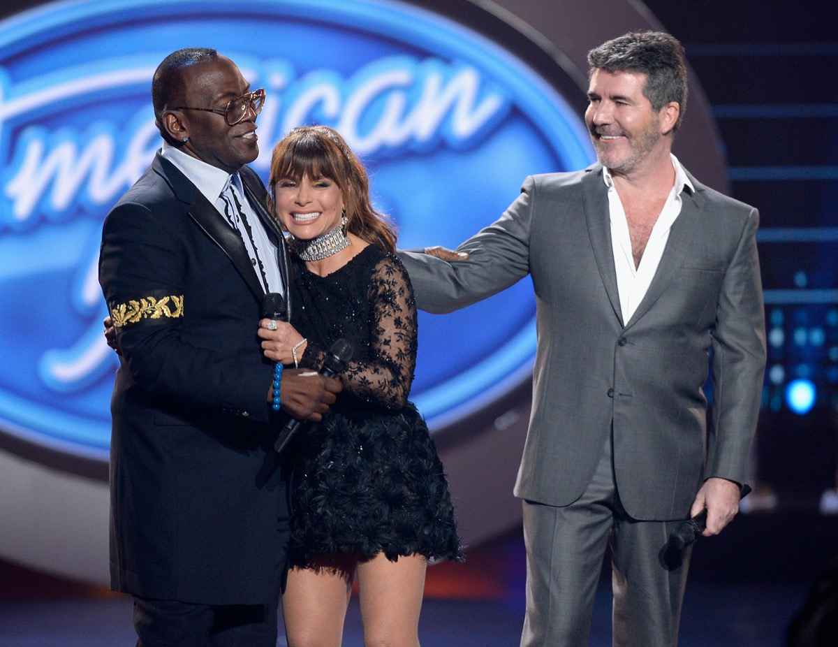 Randy Jackson, Paula Abdul, and Simon Cowell on American Idol