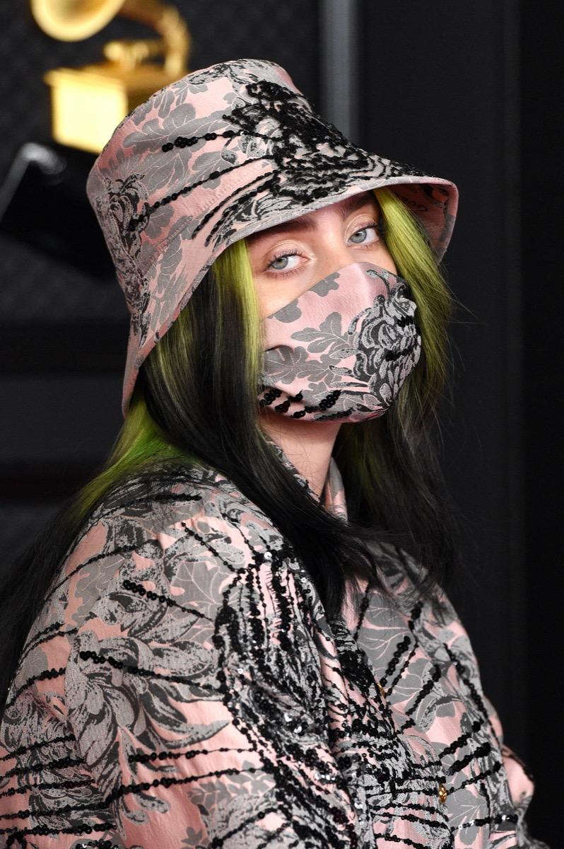 Billie Eilish at the 2021 Grammy Awards
