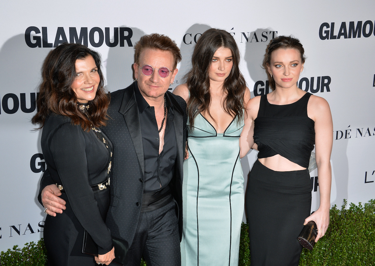 """Bono, Ali, Eve, and Jordan Hewson at the 2016 """"Glamour"""" Women of the Year Awards"""