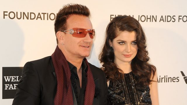 Bono and Eve Hewson at the Elton John Aids Foundation 21st Academy Awards Viewing Party in 2013