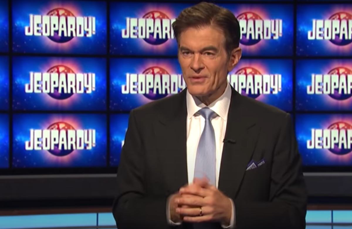 """Dr. Oz in his """"Jeopardy!"""" guest host interview"""