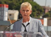 Ellen DeGeneres at her Hollywood Walk of Fame ceremony in 2012