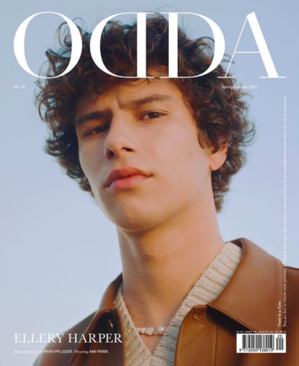 Ellery Harper on the cover of ODDA Magazine