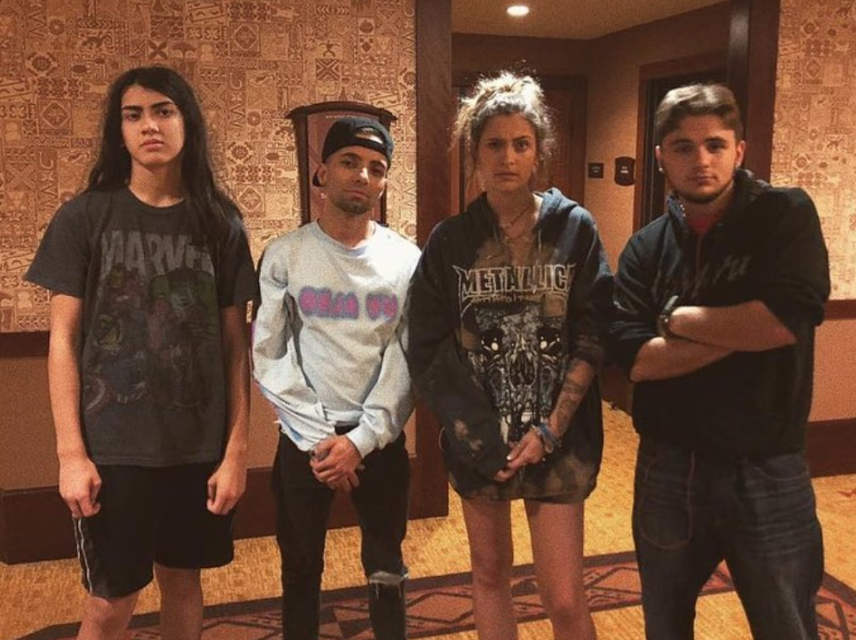 The Jackson siblings in a photo from Paris Jackson's Instagram account
