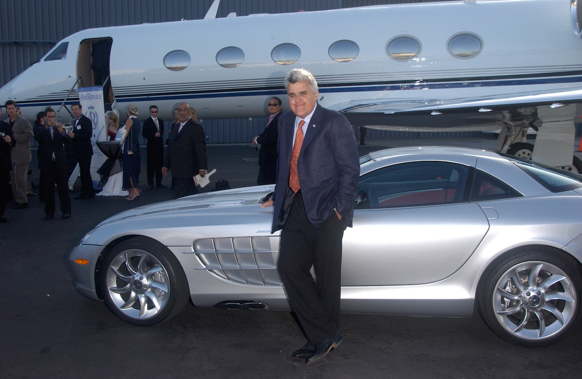 Jay Leno at a charity event at the Santa Monica Airport in 2004