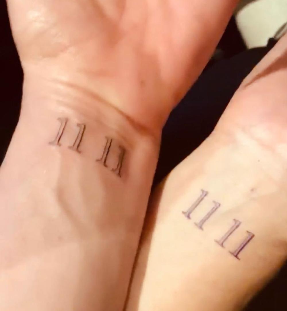Jennifer Aniston and Andrea Bendewald's matching tattoos