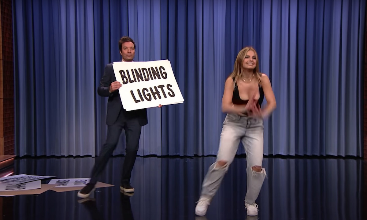 """Jimmy Fallon and Addison Rae on """"The Tonight Show"""""""