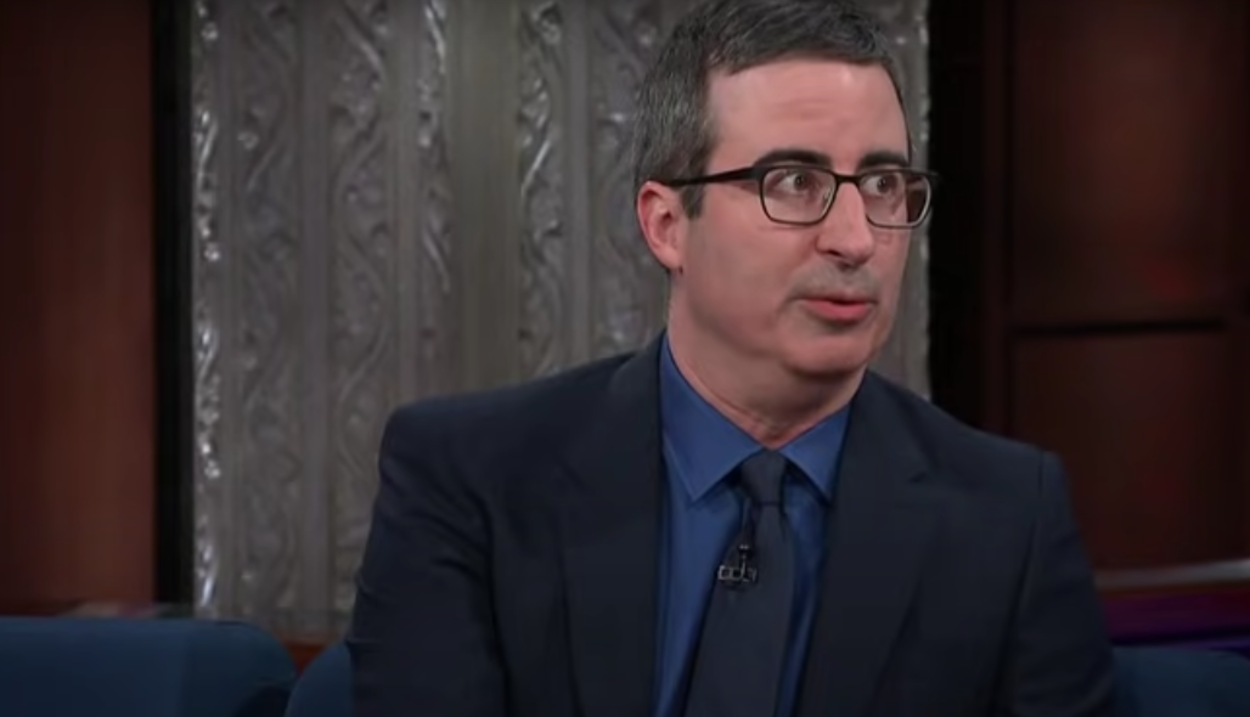 """John Oliver on """"The Late Show"""" in February 2018"""