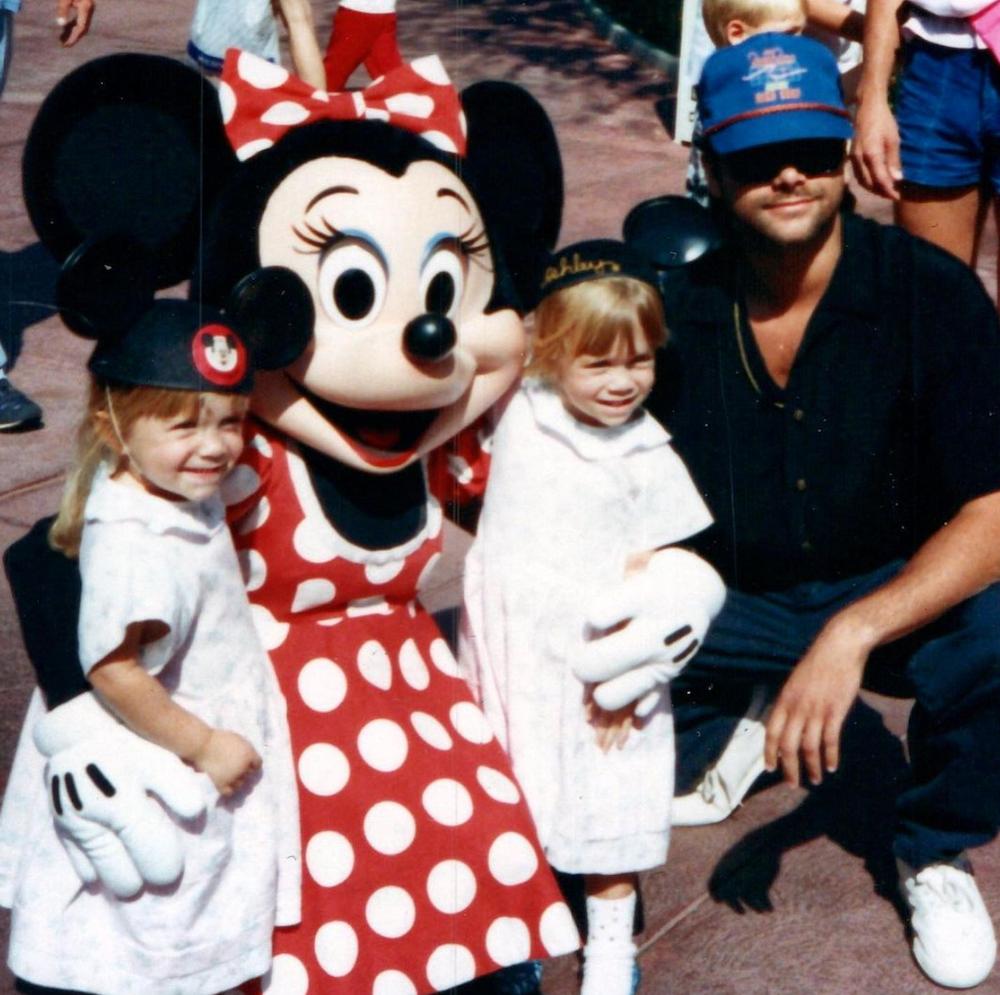 John Stamos and the Olsen twins at Disneyland
