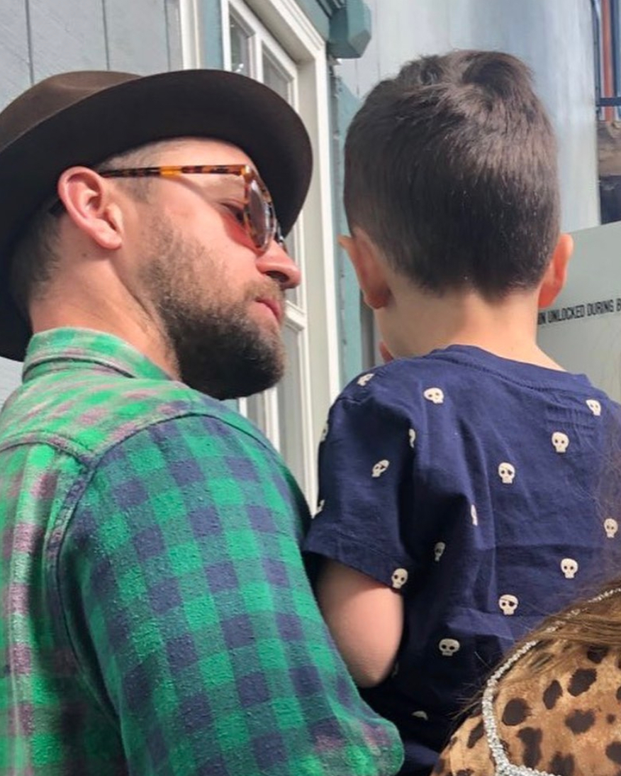 Justin Timberlake and his son Silas