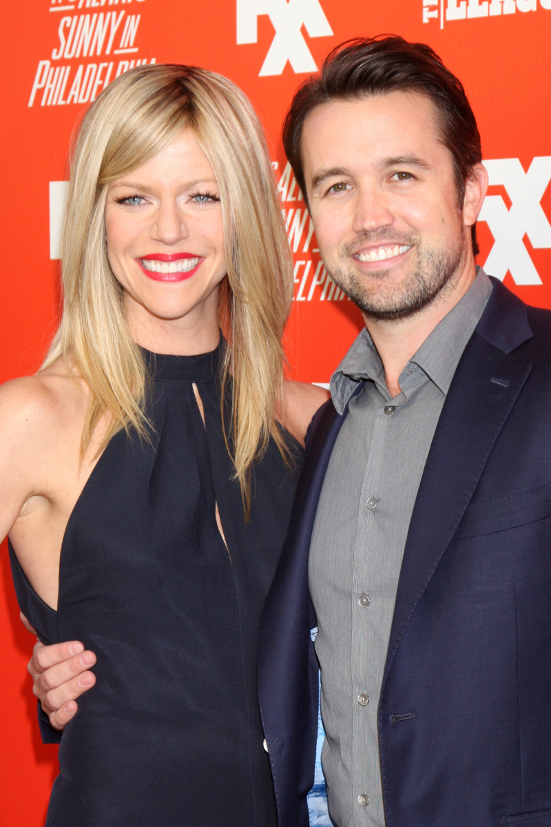 Kaitlin Olson and Rob McElhenney at the FXX Network Launch Party in 2013