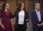 "Chloe Fineman, Maya Rudolph, and Martin Short on ""SNL"""