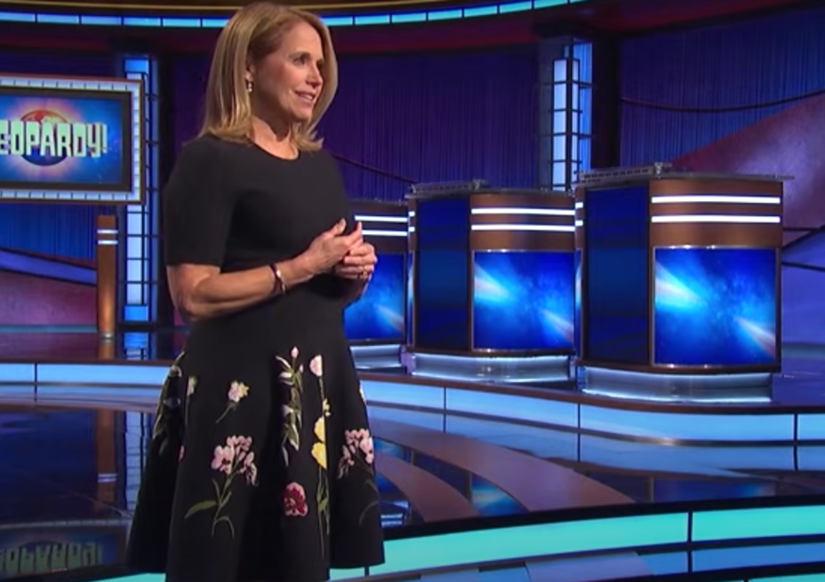 """Katie Couric in her """"Jeopardy!"""" guest host interview"""