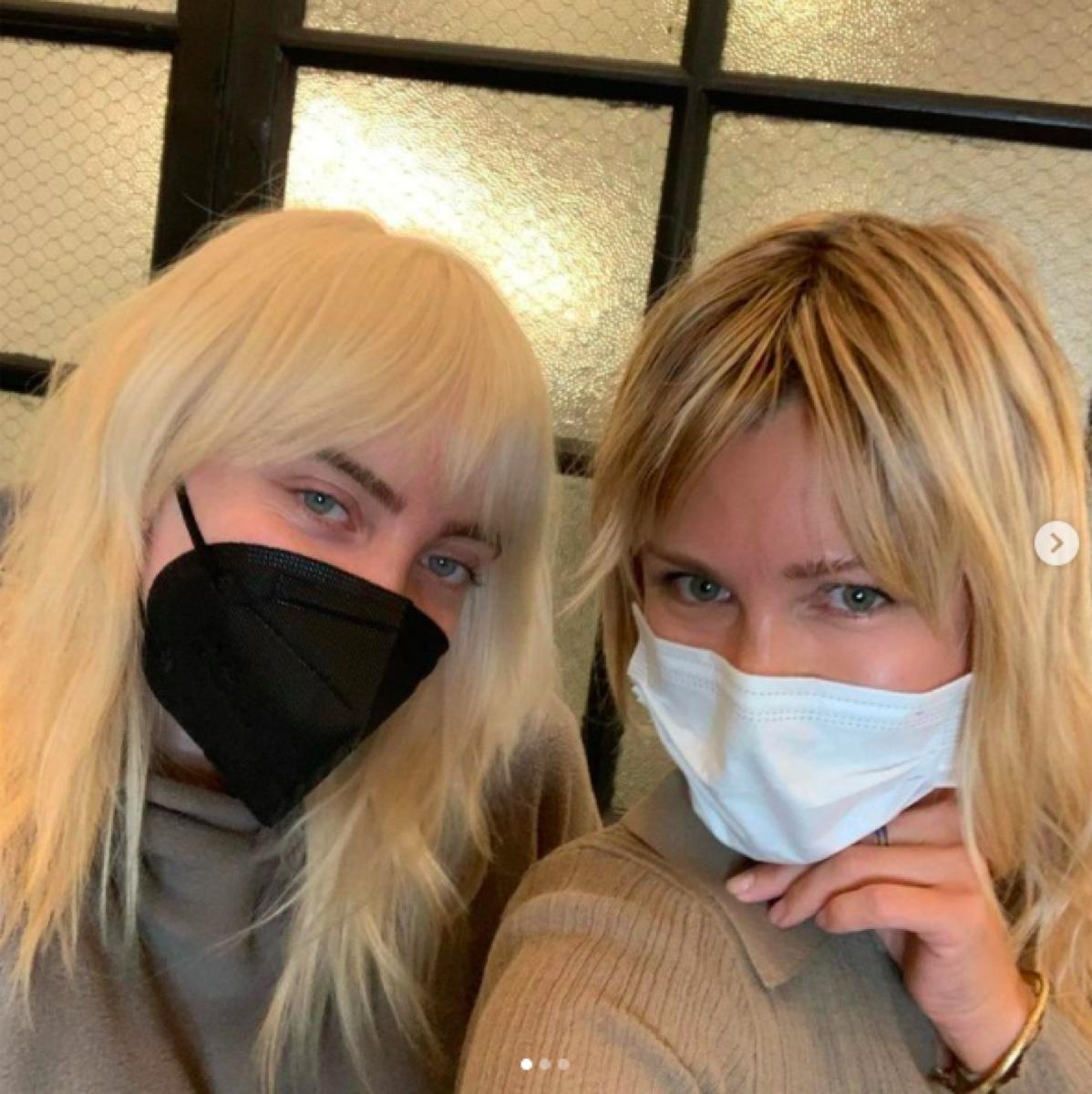 Billie Eilish with stylist Lissa Renn on Instagram