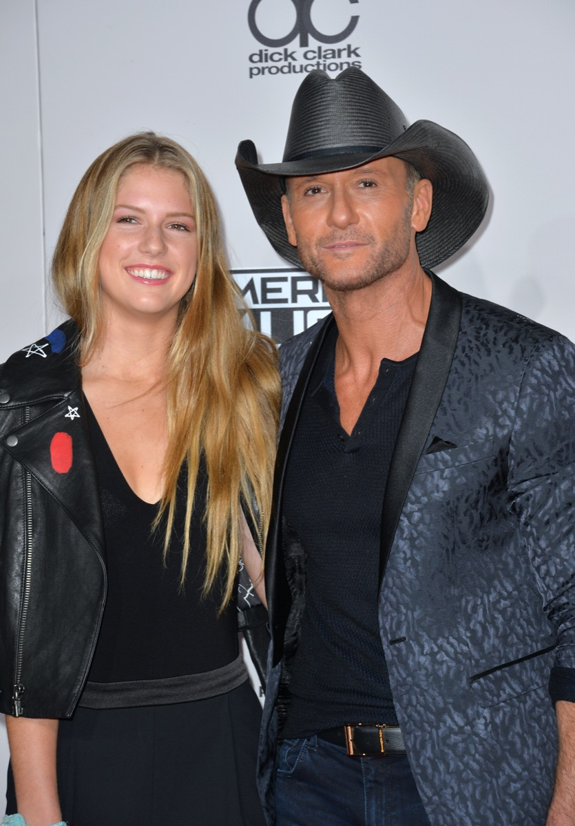 Maggie and Tim McGraw in 2016