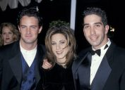 Matthew Perry, Jennifer Aniston, and David Schwimmer at the People's Choice Awards in 1995