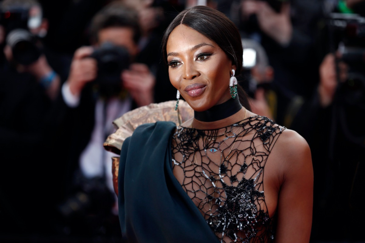Naomi Campbell at the Cannes Film Festival in 2018