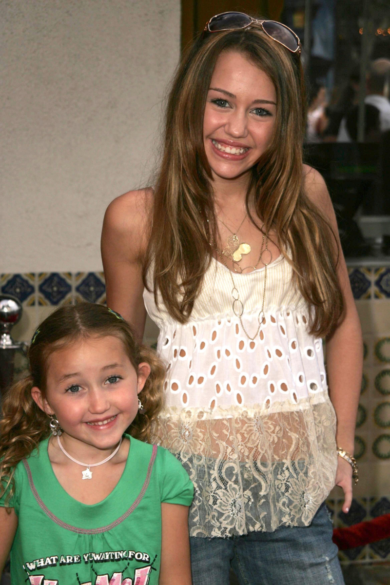 """Noah and Miley Cyrus at the 2006 premiere of """"Monster House"""""""