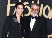 Paris and Pierce Brosnan at the 2019 Fashion for Relief show