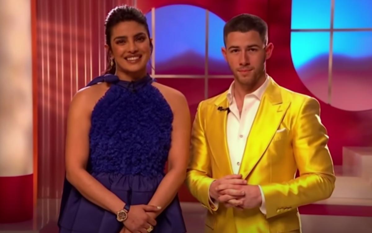 Priyanka Chopra and Nick Jonas announcing the Oscar nominations