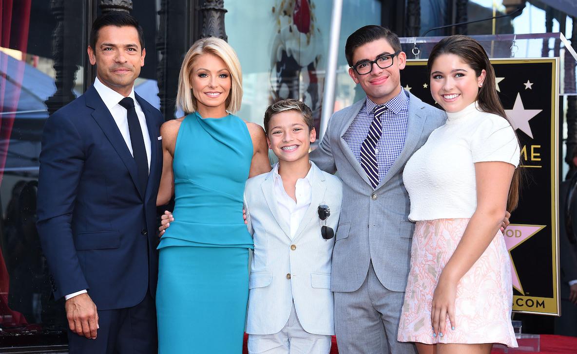Kelly Ripa, Mark Consuelos, and their kids at her Hollywood Walk of Fame ceremony in 2015
