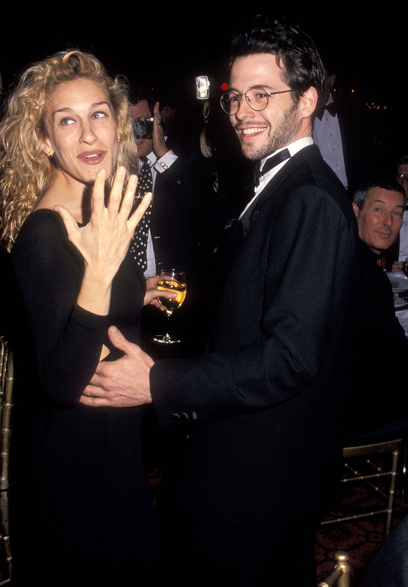 Sarah Jessica Parker and Matthew Broderick at the Professional Children's School's Annual Spring Gala Benefit in 1994