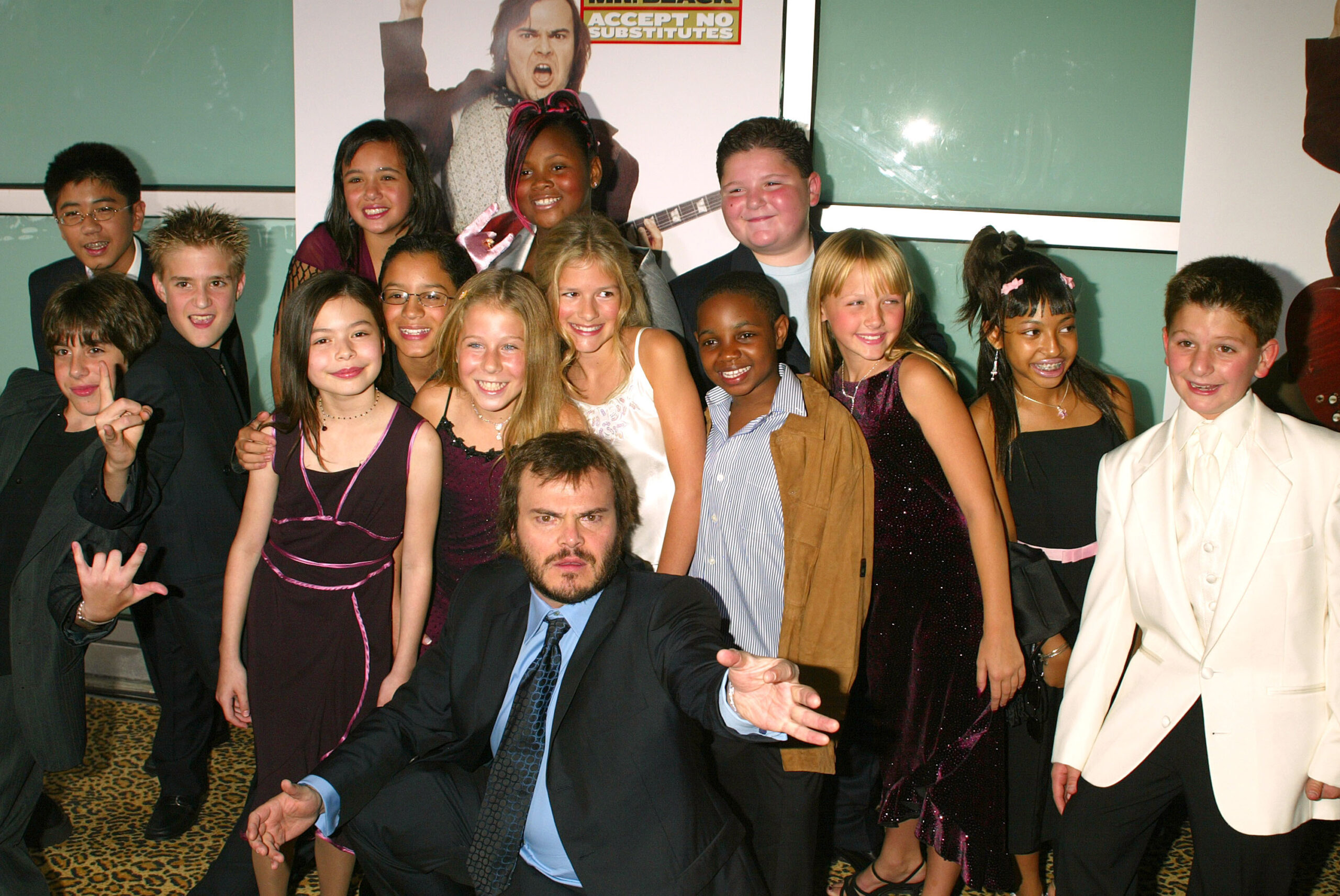 """The """"School of Rock"""" cast at the 2003 premiere"""