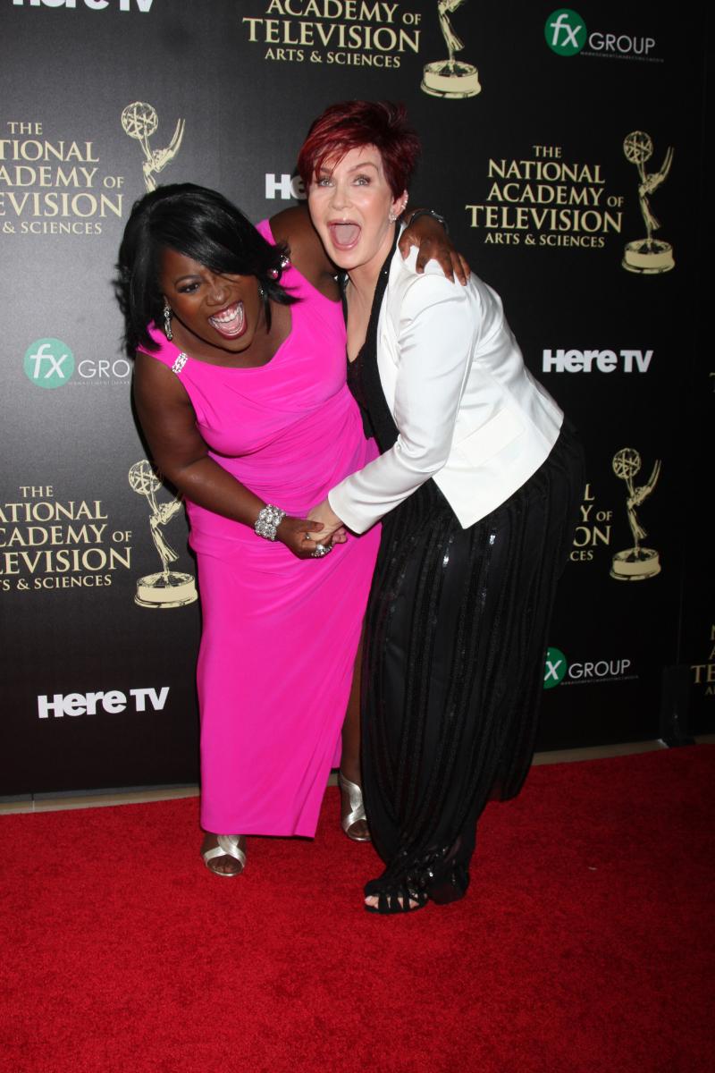 Sheryl Underwood and Sharon Osbourne at the 2014 Daytime Emmys