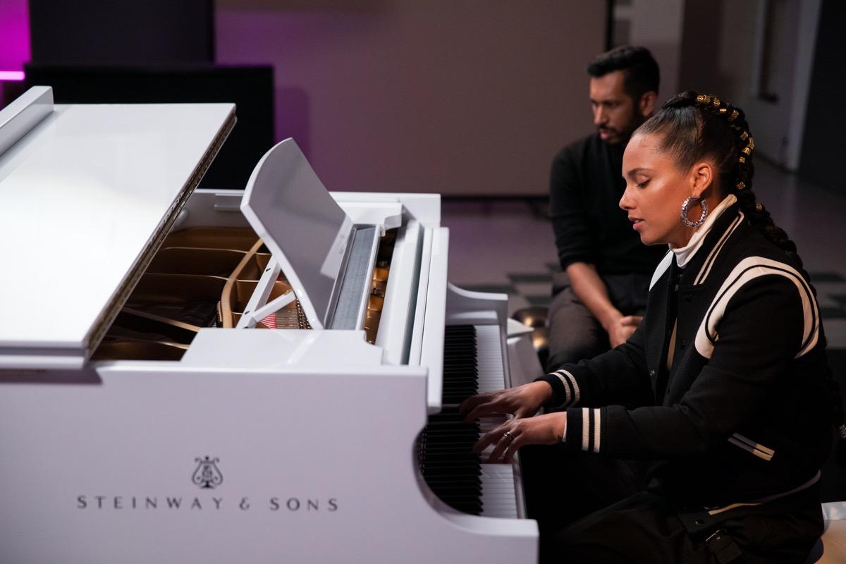 Alicia Keys and Hrishikesh Hirway in Song Exploder