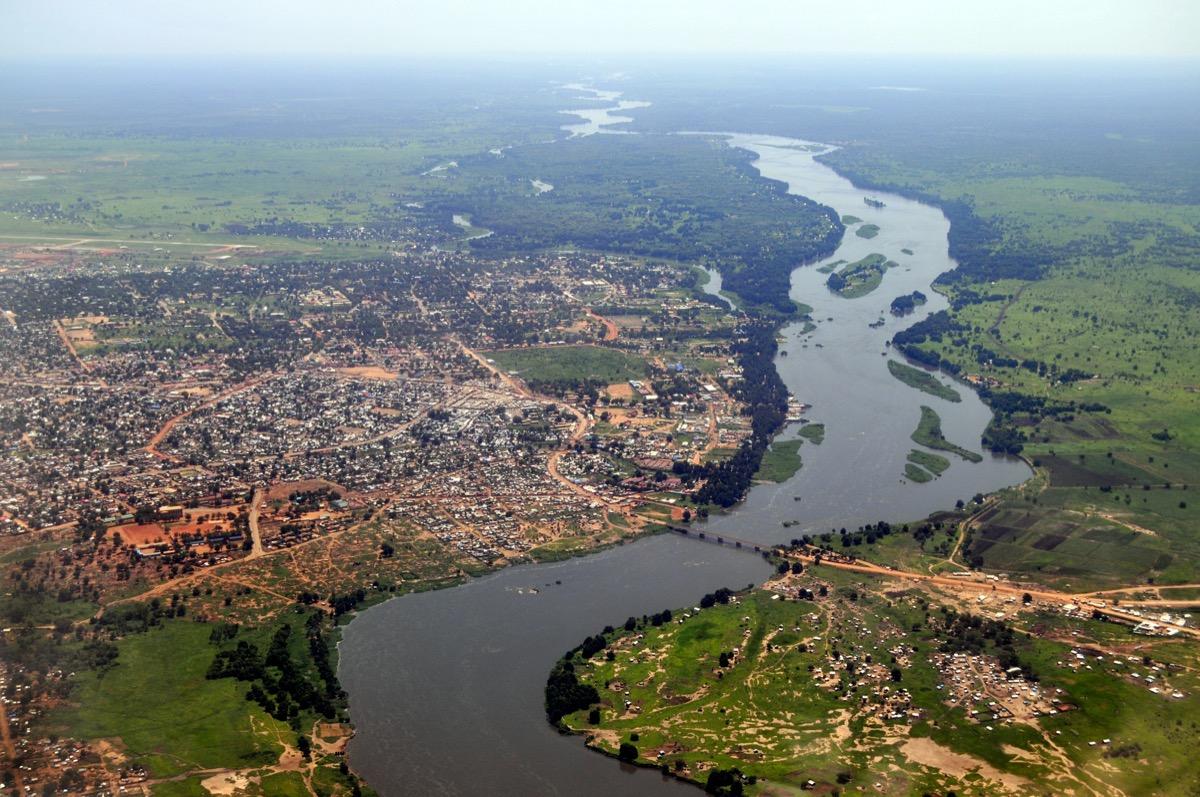 Aerial view of Juba, capital of South Sudan