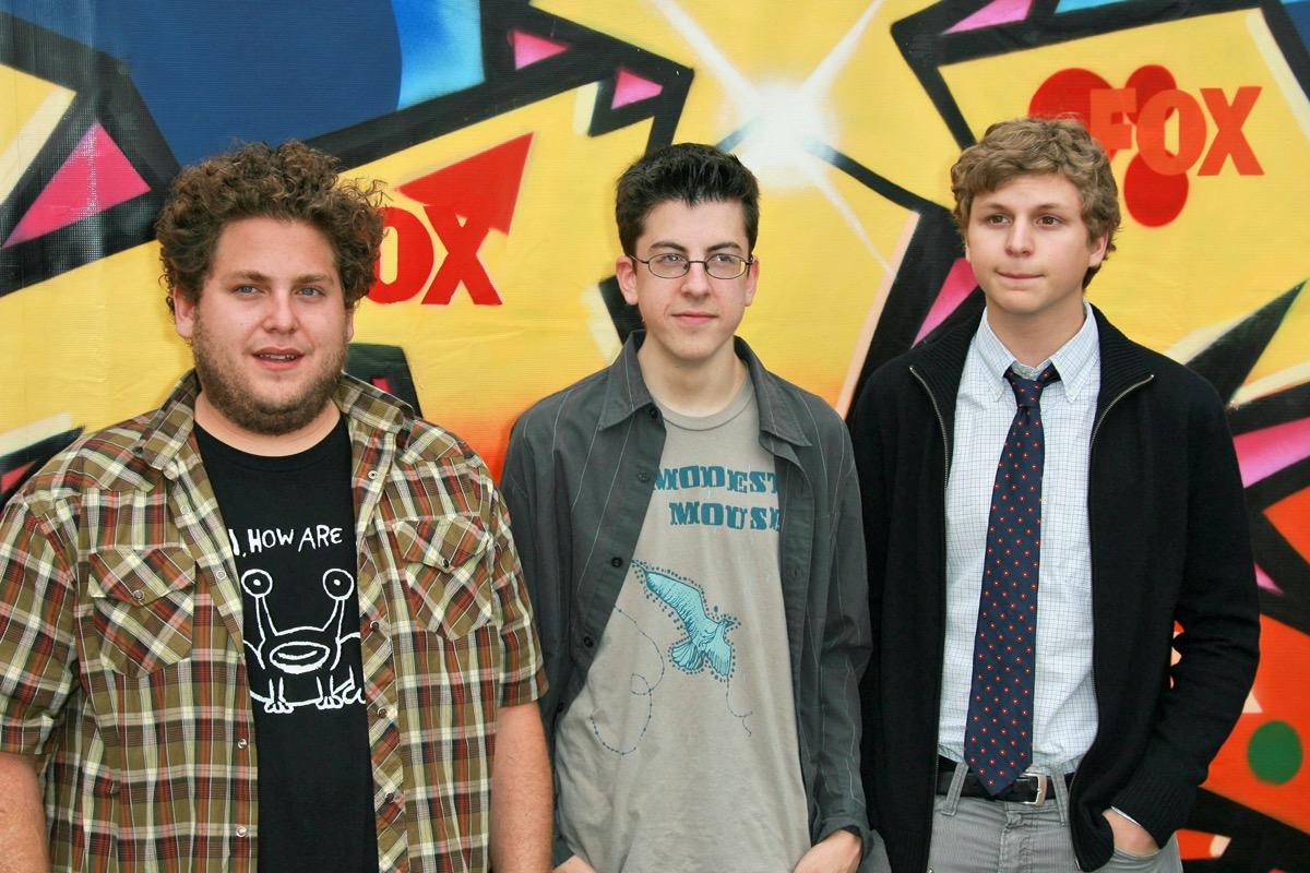 Jonah Hill, Christopher Mintz-Plasse and Michael Cera in 2007