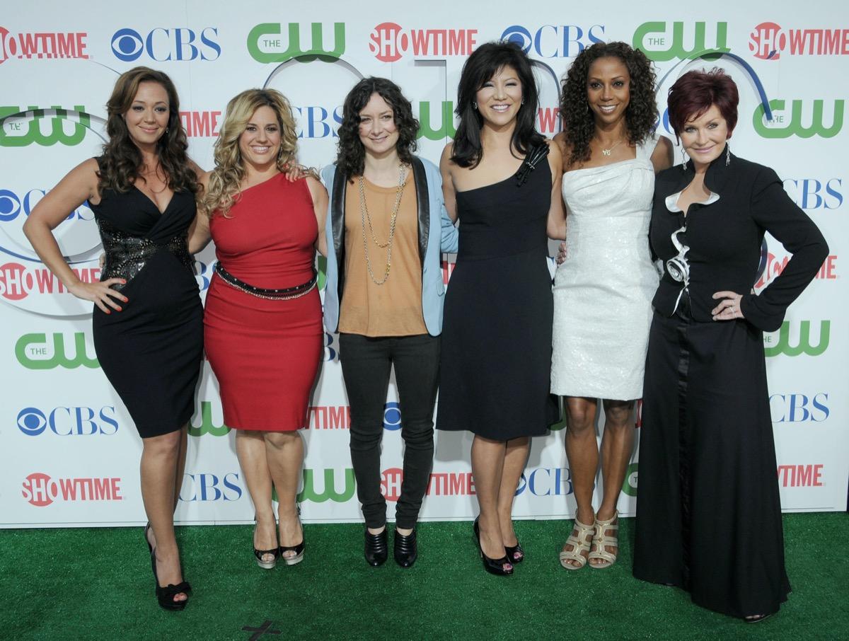 Leah Remini, Marissa Jaret Winokur, Sara Gilbert, Julie Chen, Holly Robinson Peete and Sharon Osbourne in 2010