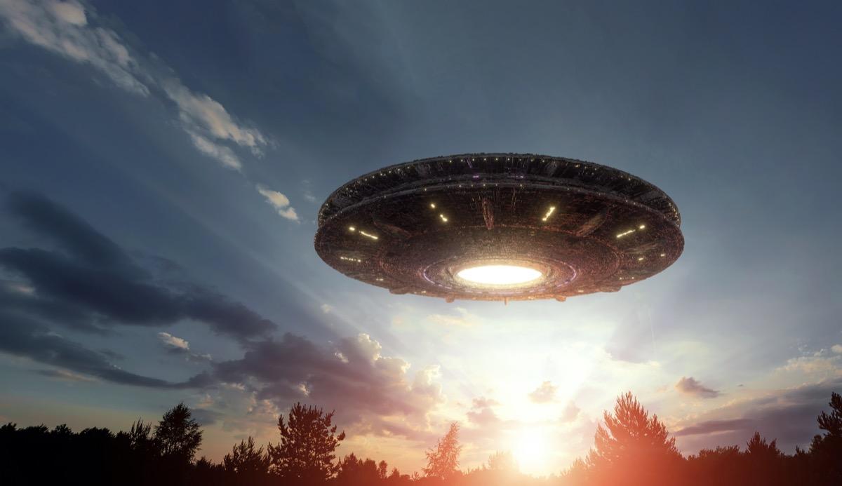 UFO in night sky