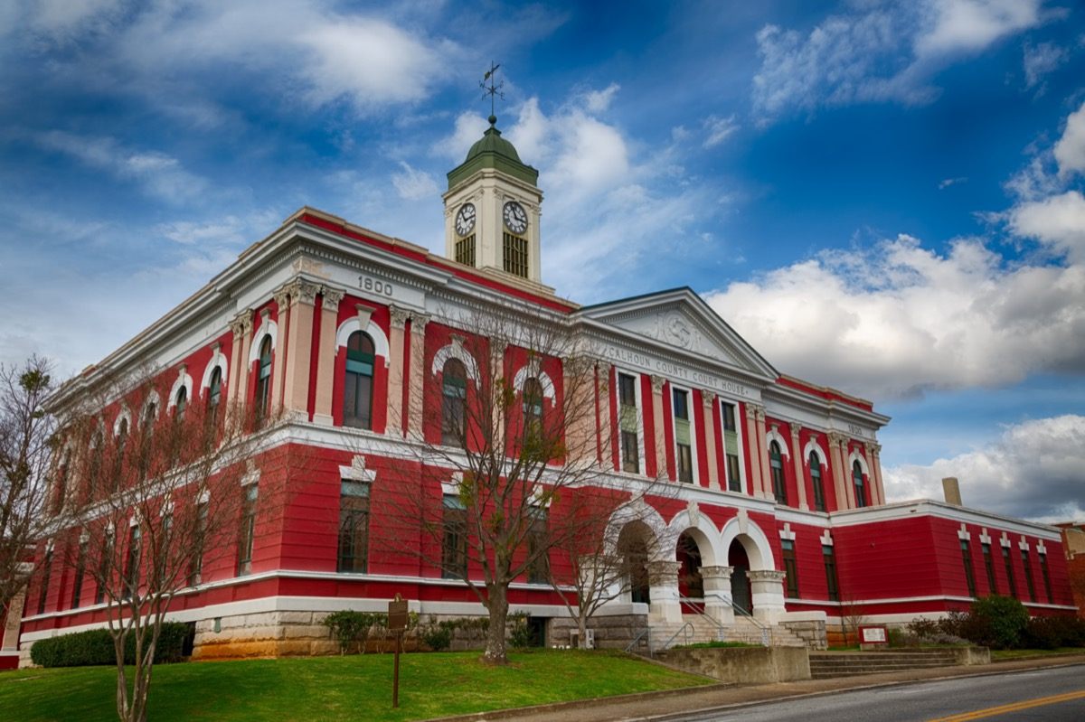 Historical Calhoun County Courthouse in Anniston, Alabama