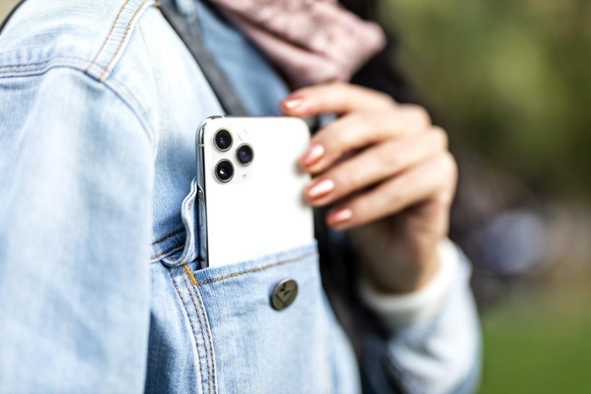 Çanakkale, Turkey- September 27,2019 Outdoor shot of a New Iphone 11pro Silver