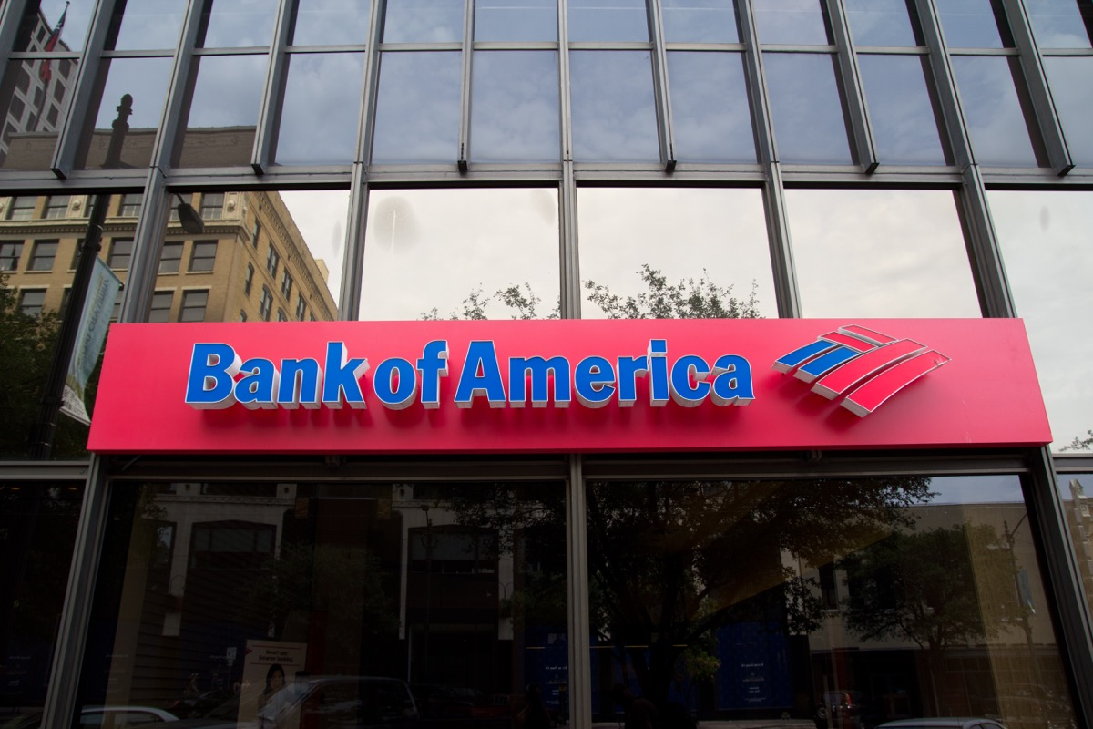 AUSTIN, TX - SEPT 2: A Bank of America branch in Austin, Texas on September 2, 2011. The US government announced that it will sue Bank of America for selling toxic mortgage-backed securities.